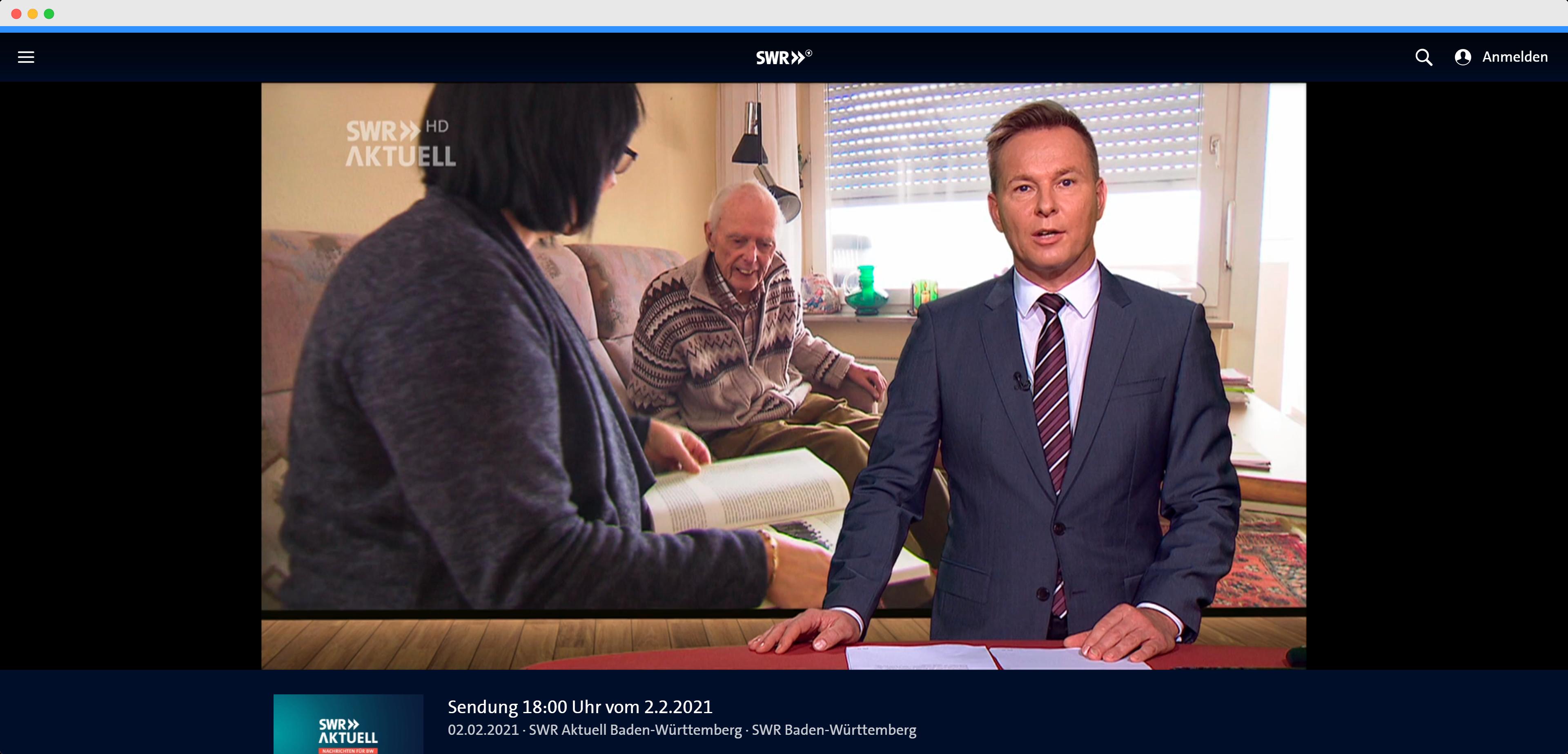 Die SWR Landesschau interviewt in einem Fernsehbeitrag pflegebedürftige Menschen, Betreuungskräfte und Mecasa zur DIN SPEC 33454